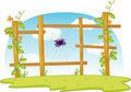 Fence Spider Royalty Free Stock Image - 10541066