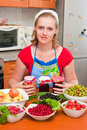 The Woman Cooks Jam Royalty Free Stock Photo - 10541185