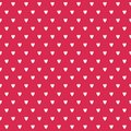 Cute Seamless Background White Hearts On Red Stock Images - 105493004