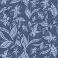 Seamless Vintage Grunge Floral Pattern With Orchid Stock Image - 10558751