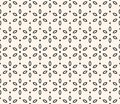 Vector Geometric Floral Pattern. Ornamental Seamless Texture With Flowers. Stock Images - 105522634
