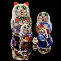 Russian Cat Nesting Doll Stock Photography - 105553282