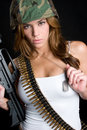 Military Woman Royalty Free Stock Photography - 10565737