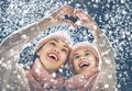 Family Playing On Winter Walk Stock Images - 105636264