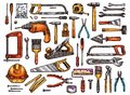 Tool For Construction And Repair Work Sketch Stock Photography - 105666782