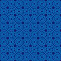 Abstract Ornate Monochrome Blue Seamless Pattern Stock Photography - 105689982
