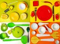 Composition With Kitchen Utensils And Tableware Royalty Free Stock Image - 105740156