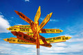 Signpost In The Stirling Point, Bluff, New Zealand Royalty Free Stock Image - 10585716