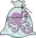 Octopus Inside The Plastic Bag Royalty Free Stock Photography - 105849237