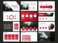 Red Abstract Presentation Templates, Infographic Elements Template Flat Design Set For Annual Report Brochure Flyer Leaflet Market Royalty Free Stock Photos - 105879138