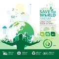 World Environment Concept. Let`s Save The World Together Vector Illustration Royalty Free Stock Image - 105942196