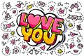 Love You Word Bubble. Royalty Free Stock Image - 105956176