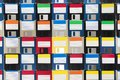 Background Of Floppy Disks Stock Photography - 105980412