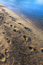 Footprints On The Beach Royalty Free Stock Image - 10606416