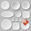 Collection Of Plates, Letter Vector Illustration Stock Image - 106111881