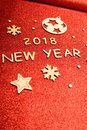 New Year`s Greeting Card 2018 Stock Photography - 106119422