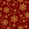 Seamless Snowflakes And Stars, Winter Pattern Stock Photo - 10626890