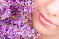 Smile Of Woman With Flowers Royalty Free Stock Images - 10628819