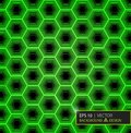 Green Carbon Fiber Hexagon Pattern. Background And Texture. Vector Illustration EPS 10 Stock Photos - 106280183