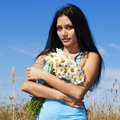 Woman With Camomiles Royalty Free Stock Photo - 10637655
