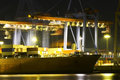 Busy Dock At Night Stock Photo - 10648800