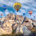 Colorful Hot Air Balloons Flying Over Cappadocia, Turkey Royalty Free Stock Photography - 106432817