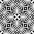 Vector Monochrome Seamless Pattern, Abstract Geometric Floral Ornament Texture Royalty Free Stock Photos - 106485078