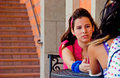 Girls Talking Near Stairs Stock Photography - 10659122