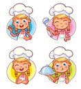 Collection Of Cook Chef Portraits In Different Situations Stock Images - 106510224