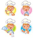 Collection Of Cook Chef Portraits In Different Situations Royalty Free Stock Photography - 106510397