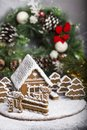 Homemade Gingerbread House Stock Photo - 106539710