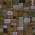 Seamless Background Texture Old Color Stone Wall. Vector Illustration For Ui Game Element Royalty Free Stock Photo - 106588515
