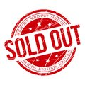 Circular Scratched Sold Out Red Stamp Stock Image - 106625951
