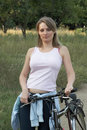 Woman Relax Smiling Bike Royalty Free Stock Image - 10678066