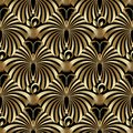 Abstract Gold Butterflies Seamless Pattern. Stock Image - 106748291