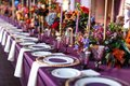 Table Set For Wedding Or Another Catered Event Dinner Royalty Free Stock Photos - 106760248