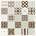 Vector Graphic Vintage Textures Created With Squares, Rhombuses Stock Photos - 106763963