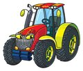 Funny Small Tractor With Eyes Royalty Free Stock Photo - 106770505