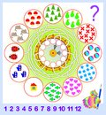 Logic Exercise For Young Children. Need To Count The Quantity Of Objects  And Write The Corresponding Numbers In Circles. Stock Image - 106787281