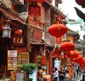 Fenghuang, China - May 15, 2017: People Walking Around Street In The Phoenix Fenghuang City Stock Photos - 106788613