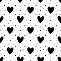 Black And White Hearts Seamless Pattern Stock Photo - 106843720