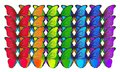 Multicolored Morpho Butterflies Isolated On White Background Royalty Free Stock Photography - 106853177