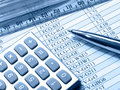 Table, Pen, Ruler And Calculator (blue) Royalty Free Stock Photo - 10690765