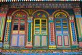Unique Traditional Colorful Windows In Little India, Singapore Stock Photo - 106928190