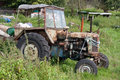 Old Neglected Tractor Stock Photography - 10703152