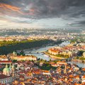 Panorama Of The Old Prague From The Petrin Tower, Czech Republic. Stock Photo - 107077790