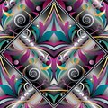 Vintage Hand Drawn Paisley Seamless Pattern. Colorful Vector Flo Royalty Free Stock Images - 107154009