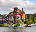 Riverside Houses And Moorings Royalty Free Stock Images - 10726249
