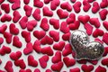 Love Valentines Day Background With Red Hearts. Copy Space. Stock Photography - 107234552