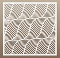 Decorative Card For Cutting. Rope, Squiggly Line Pattern.  Royalty Free Stock Photography - 107266317